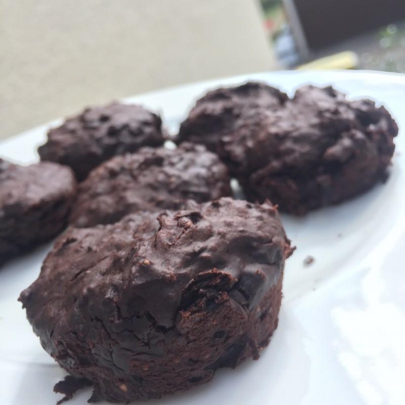 Saftig kleine Brownies