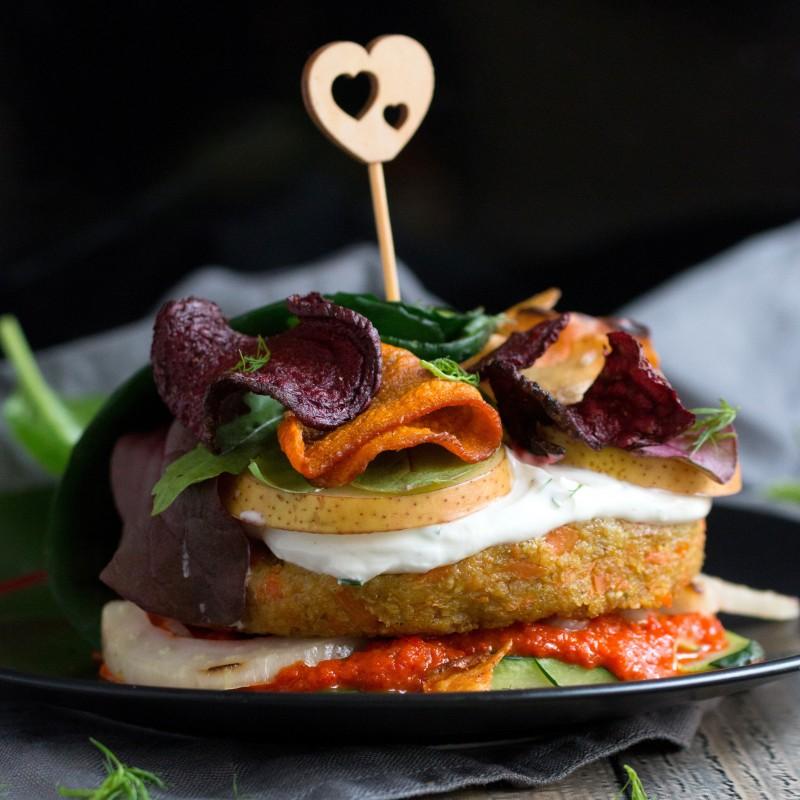 Grünkern-Karotten-Burger