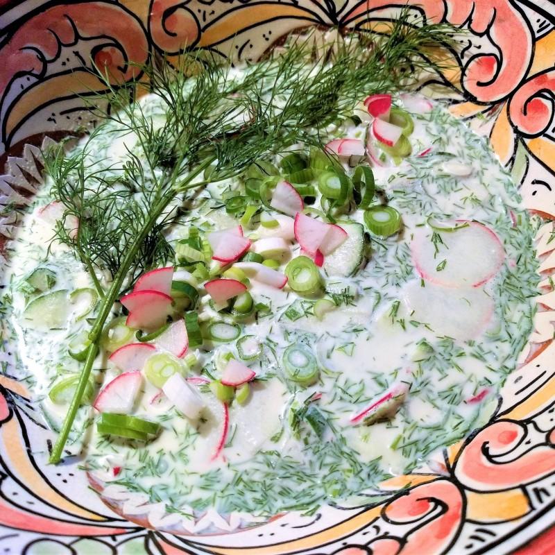 Erfrischende Gurken Dill Suppe
