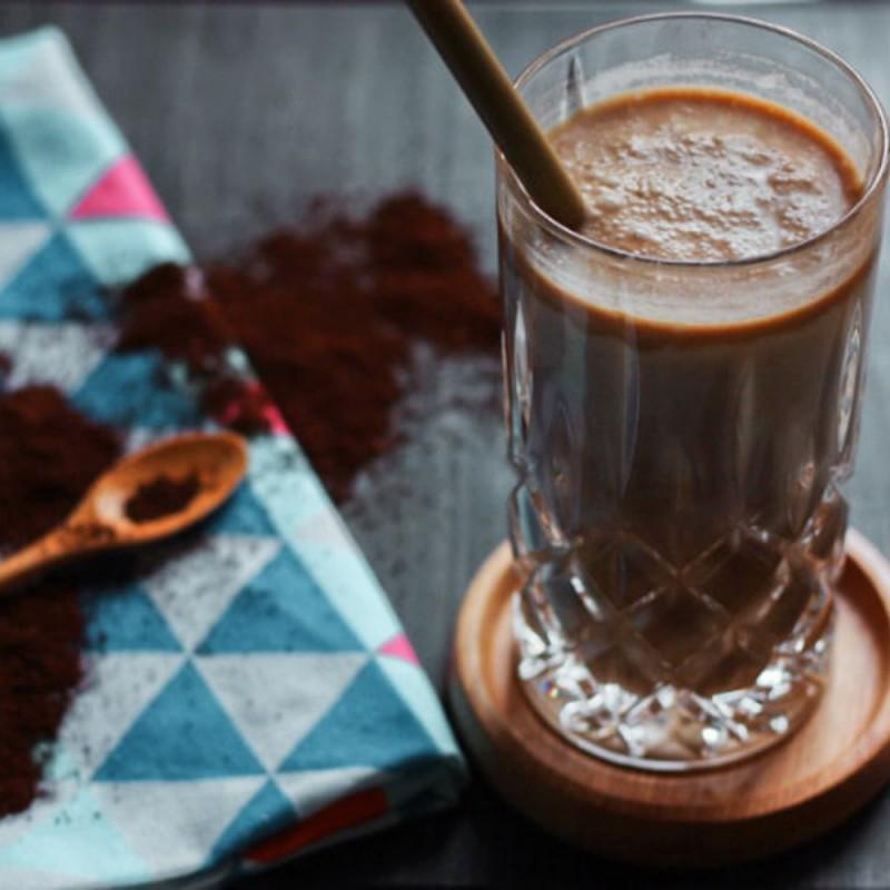 Bananen Kokos Smoothie mit Kaffee