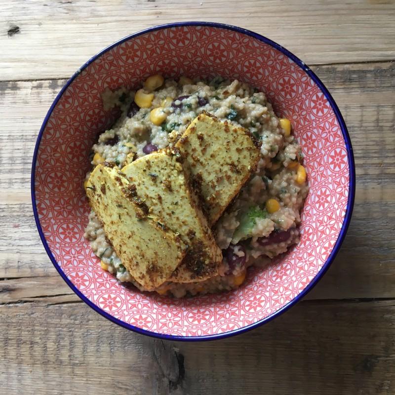 Couscous in Ersnusssauce mit Tofu