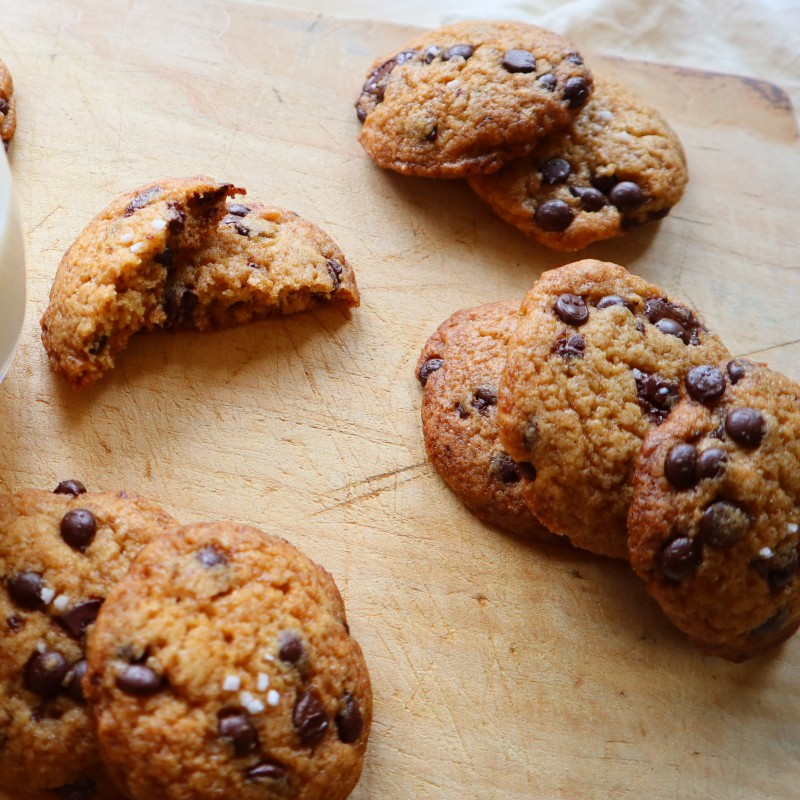 Salted Chocolatechip Cookies