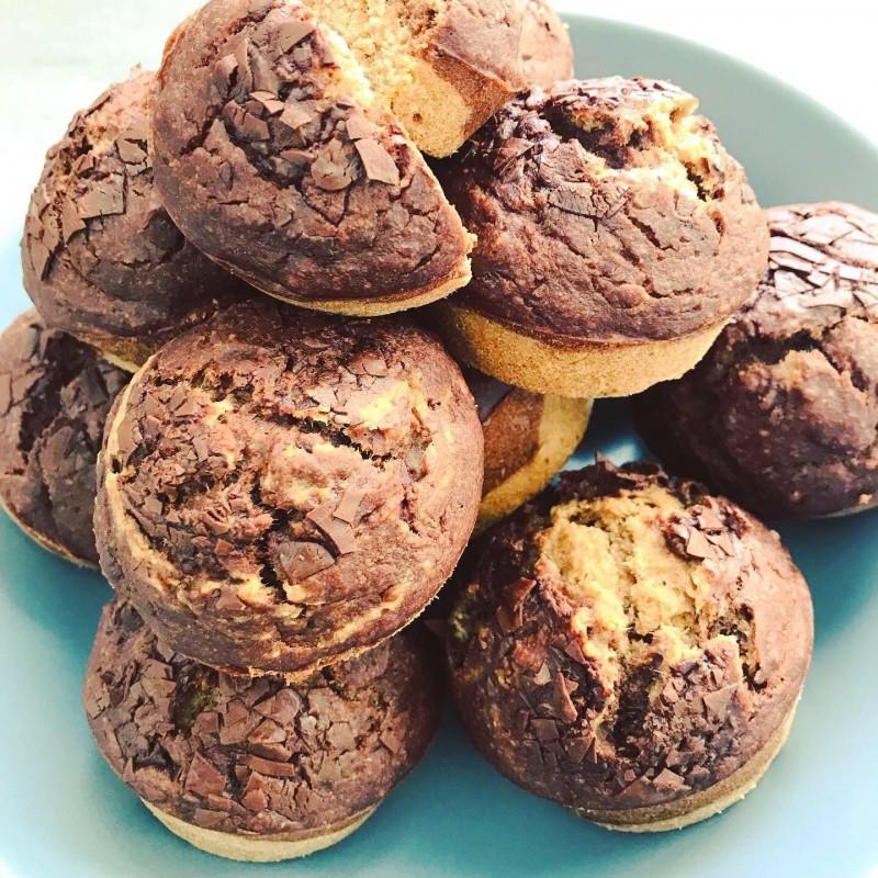Marmor Muffins Vegan und Glutenfrei
