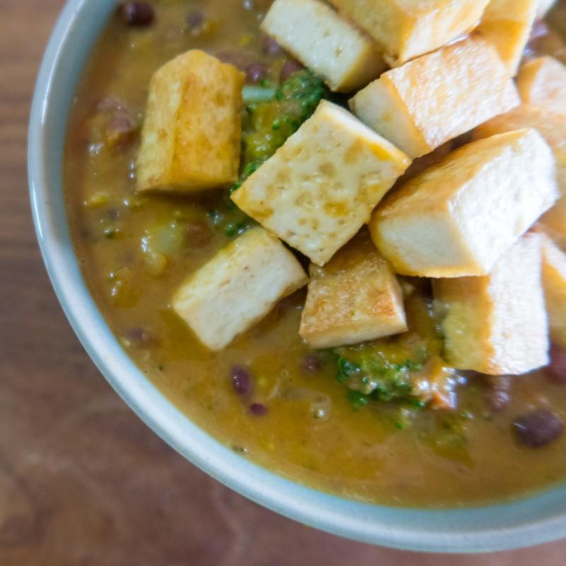 Rotes Kürbis Curry