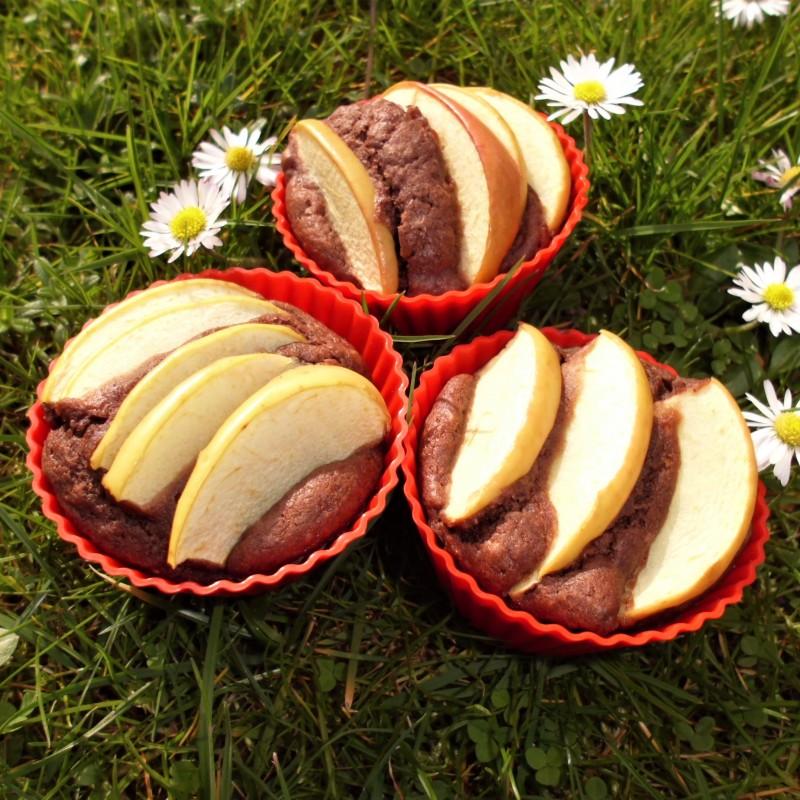 Schoko Apfel Nuss Muffins