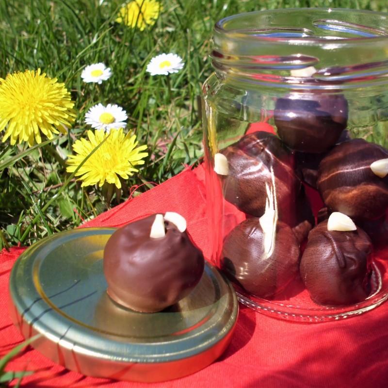 fruchtige Kaffe Marzipan Pralinen