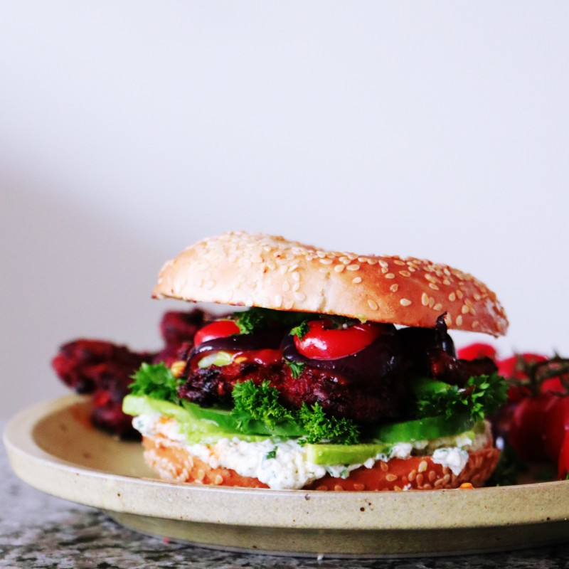 VEGANER STEAK BAGEL
