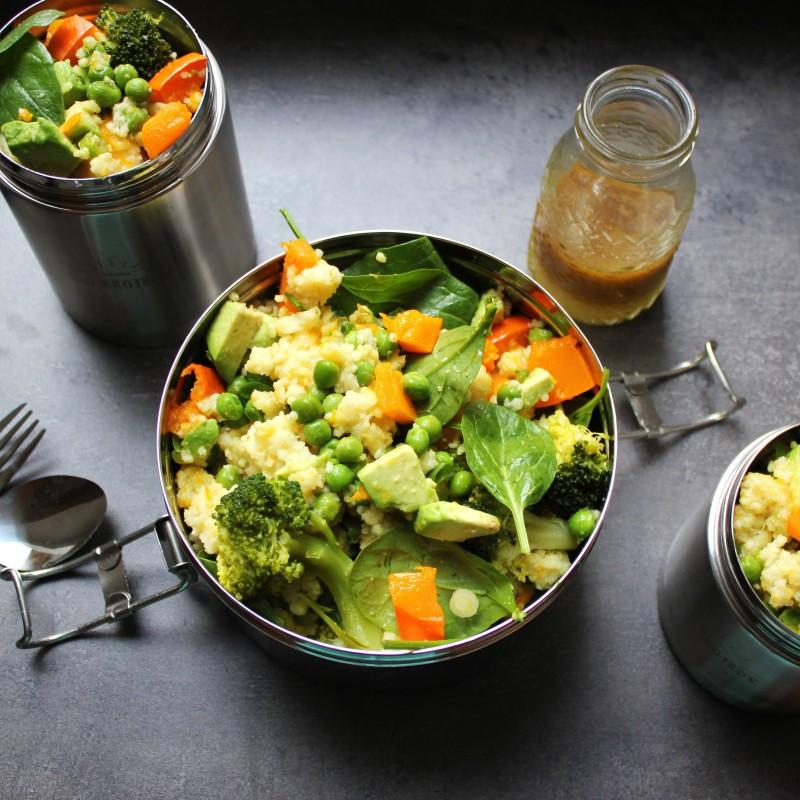 Warmer Hirse-Salat