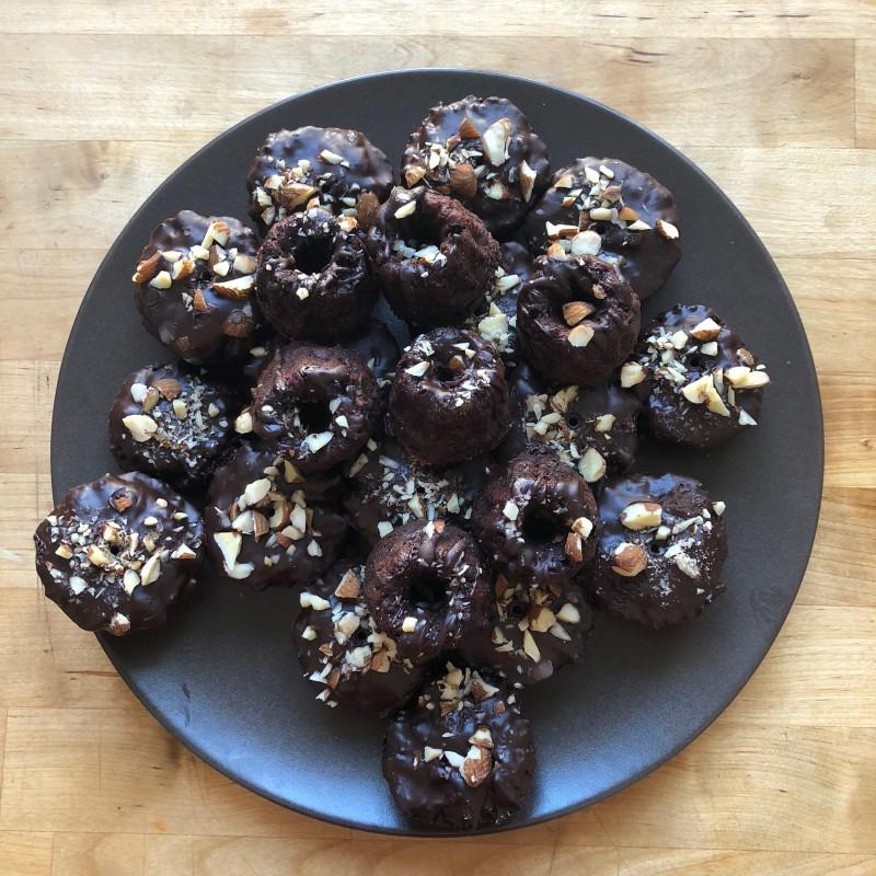 Schokoladige Bohnenmuffins