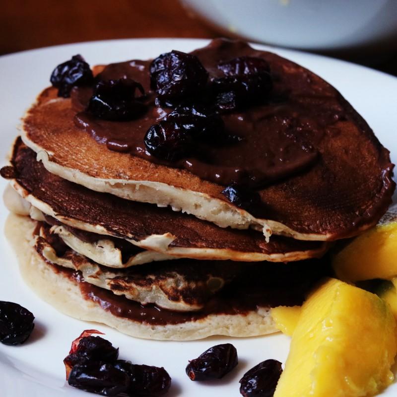 Pfannkuchen mit Schokocreme