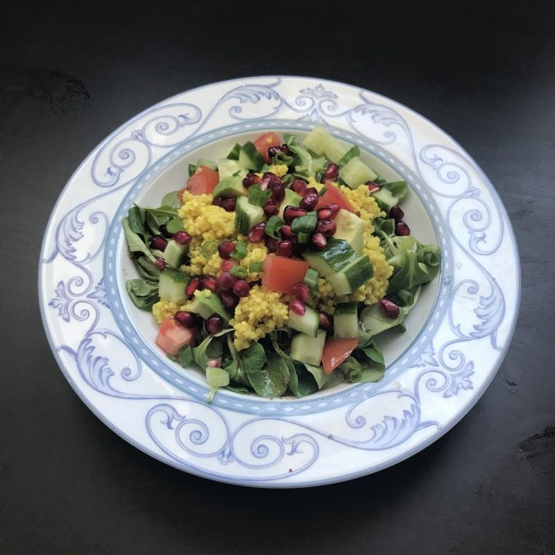 Hirsesalat mit Chili-Dressing