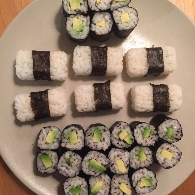 Avocado Sushi für Zuhause
