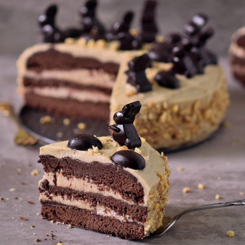 Erdnussbutter Schokoladentorte