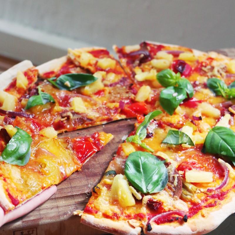 einfache  vegane pizza
