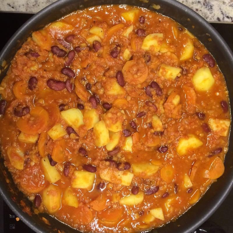 Chili mit Linsen und Bohnen