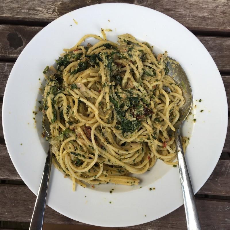 Cremige Zucchini-Pasta
