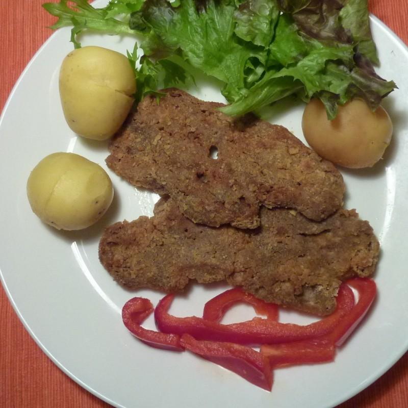 Panierte Seitan steaks