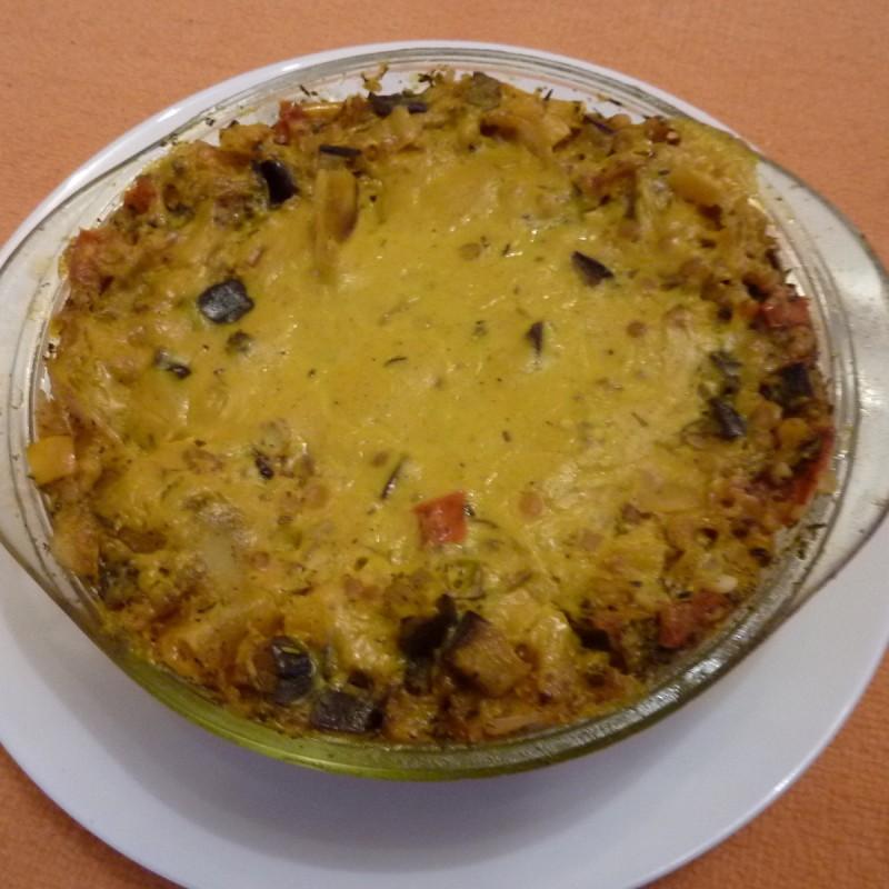 schnelle Gemüse Linsen Lasagne