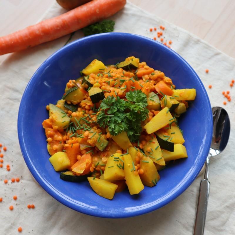 Möhren Kartoffel Linsen Stew