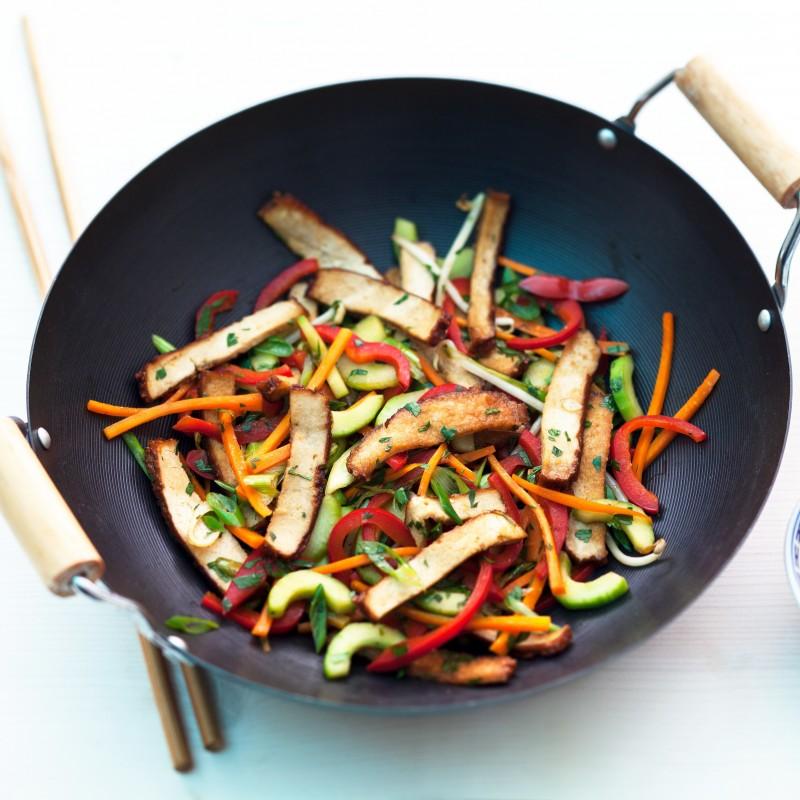 Räuchertofu Wokgemüse