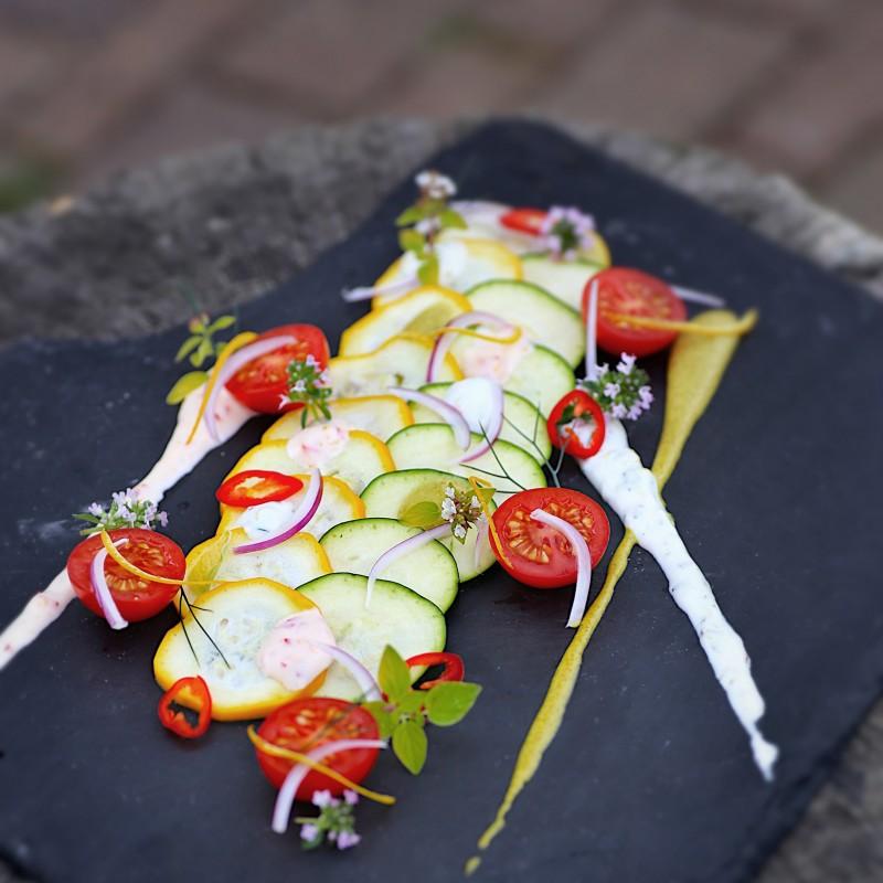 Carpaccio von der Zucchini
