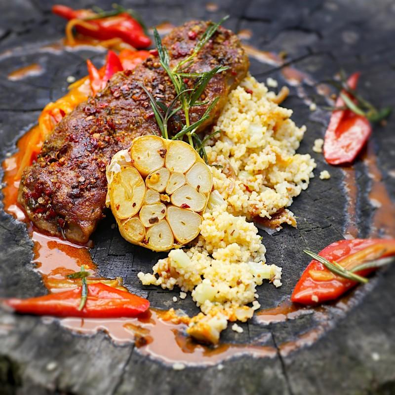 Steak an Feigen-Couscous