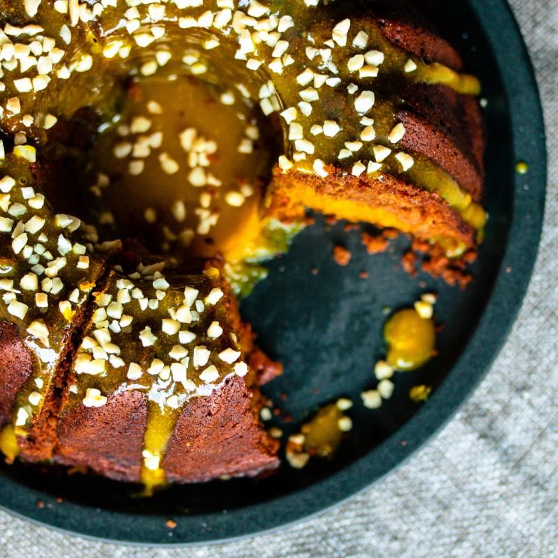 Kürbis Orangen Marmorkuchen