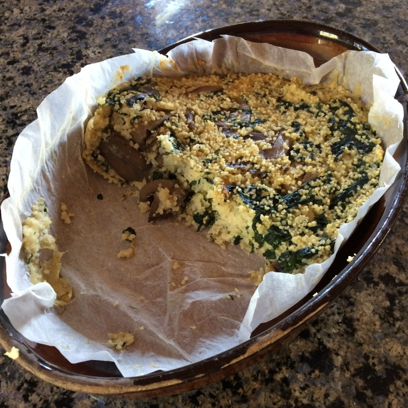 Couscous-Spinat-Auflauf