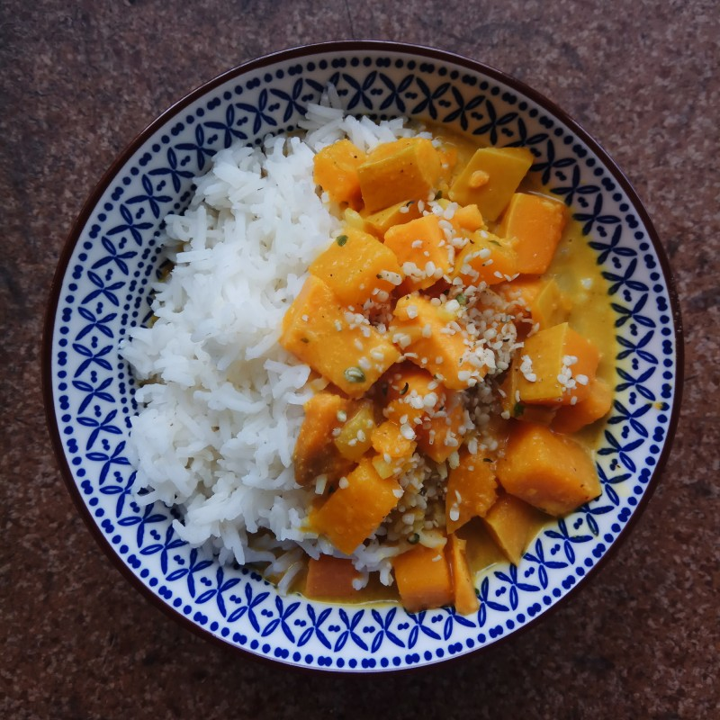 Schnelles Kürbis Curry