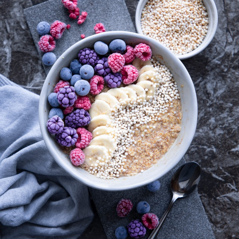 Glutenfreies Ahornsirup Oatmeal