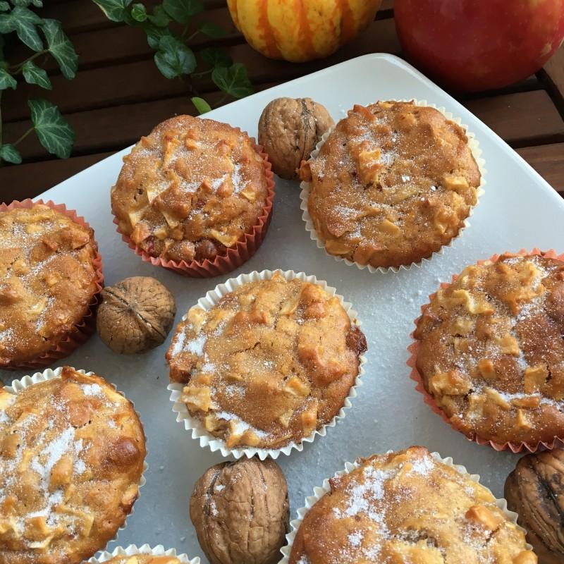 Apfel-Nuss Muffins