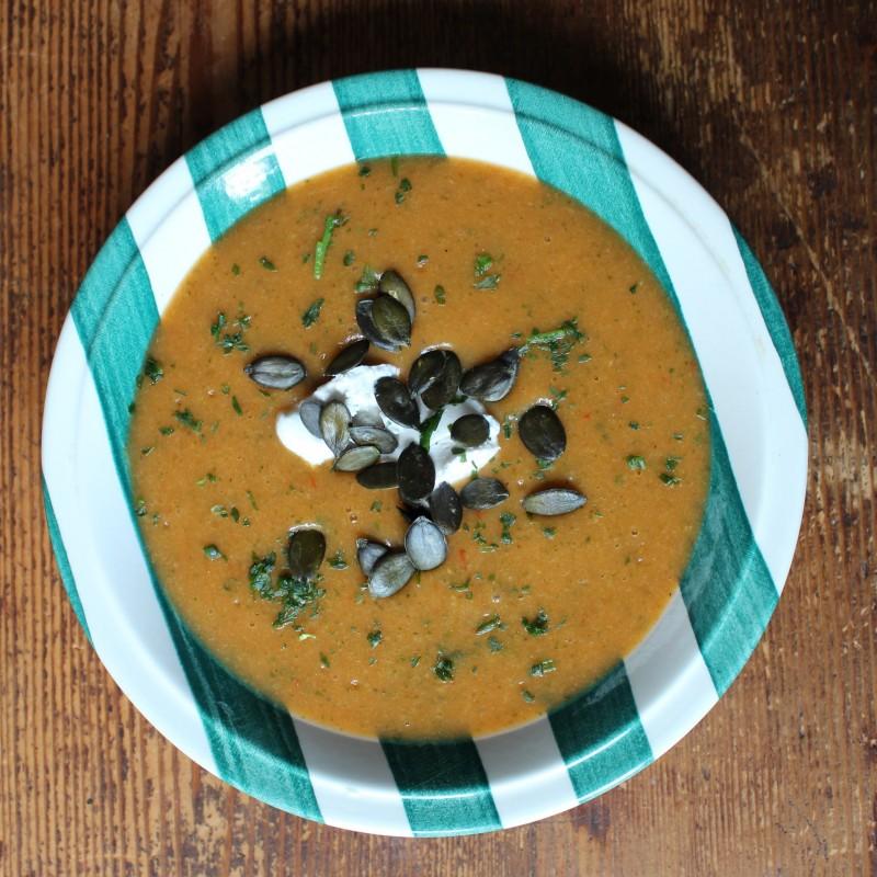 Brokkoli-Paprika-Kartoffelsuppe