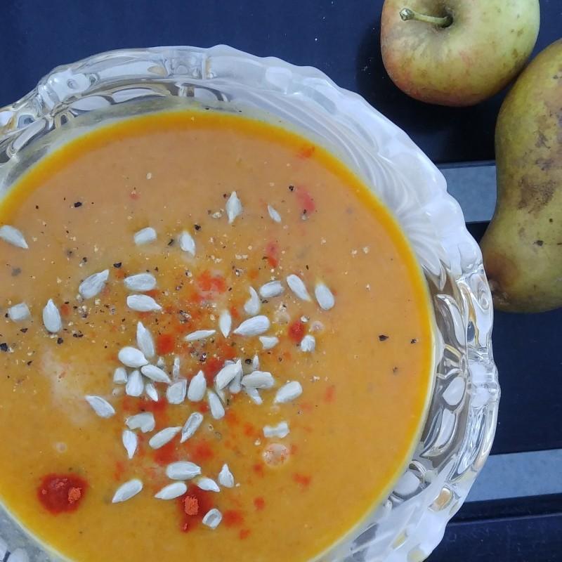 Orangenes Wärme-im-Bauch-Süppchen